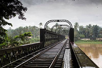 Railway bridge in Sri Lanka - p1026m1164190 by Patrick Frost