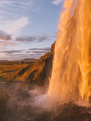 Icelandic Waterfall - p1507m2028524 by Emma Grann
