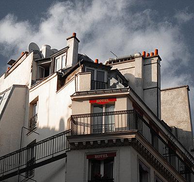 Parisian hotel windows - p1072m829208 by Neville Mountford-Hoare