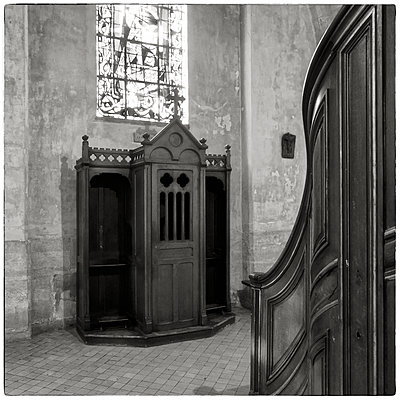 France, Paris, Confessional - p1154m2229522 by Tom Hogan