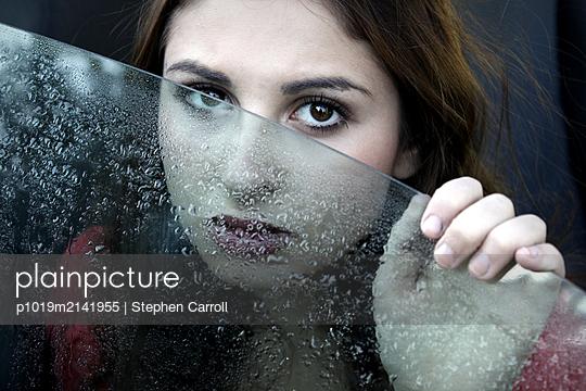 Woman in car - p1019m2141955 by Stephen Carroll