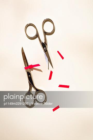 Locked scissors - p1149m2291297 by Yvonne Röder