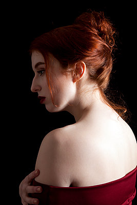 Redhead Portrait - p1248m1550480 by miguel sobreira