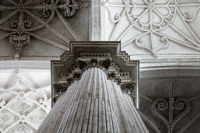 Column in a cathedral  - p1445m2150448 by Eugenia Kyriakopoulou