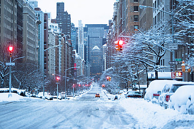 City street covered in snow - p924m807188f by Ditto