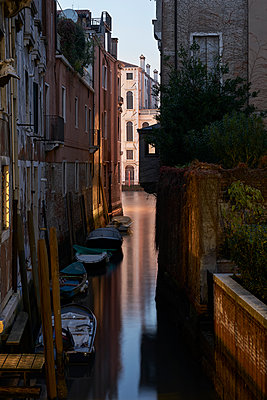 Boats on the canal in venice - p1312m2054963 by Axel Killian