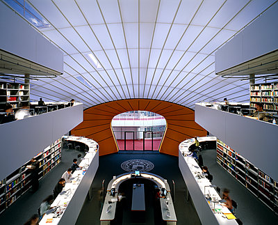 University library - p1209m1025802 by Guido Erbring