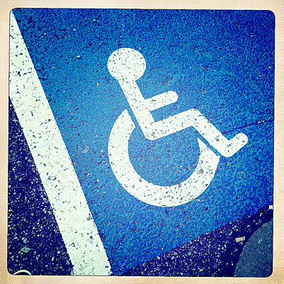 Disabled parking sign - p300m1084232f by JLPfeifer