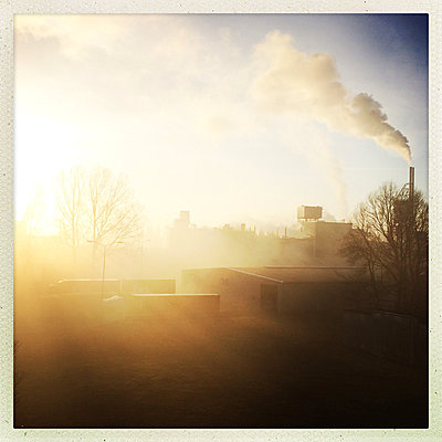 Industrial plant in the morning - p1670m2253315 by HANNAH