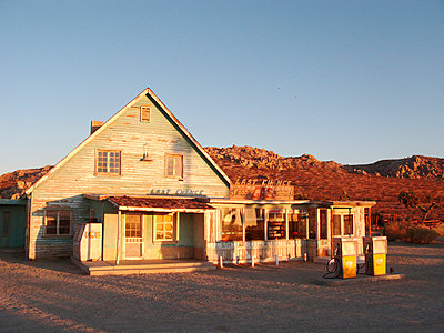 Abandoned gas station in the desert of USA - p8870064 by Christian Kuhn