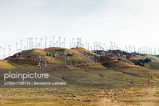 Windpark, Kalifornien - p756m1158734 von Bénédicte Lassalle