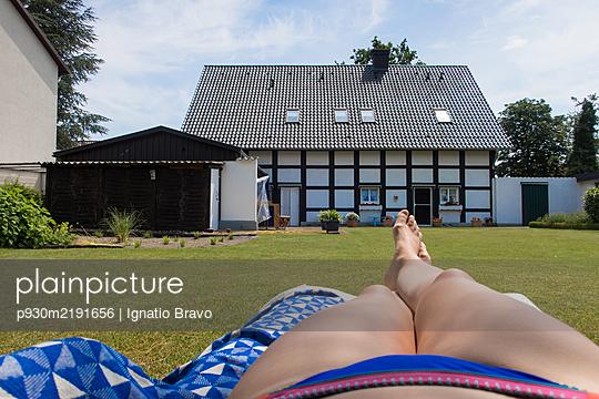 Sunbathing - p930m2191656 by Ignatio Bravo