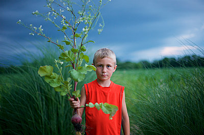 Boy in Garden - p1169m1124128 by Tytia Habing
