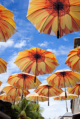 Umbrellas as decoration - p304m1219339 by R. Wolf