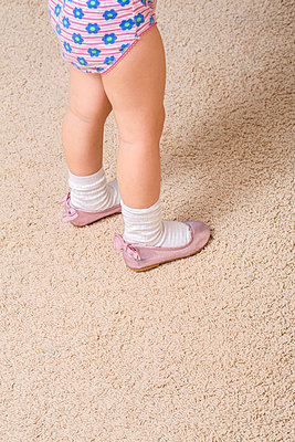 Girl wearing ballerina shoes - p301m799503f by Vladimir Godnik