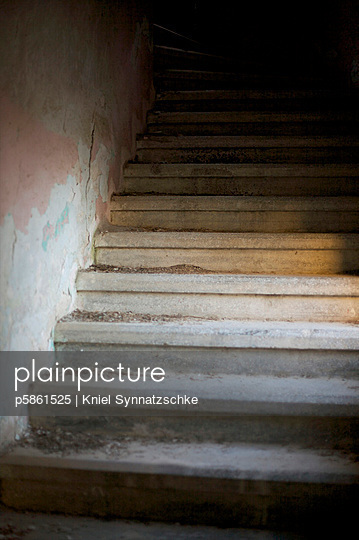 Old stone stairs - p5861525 by Kniel Synnatzschke