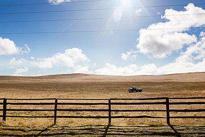 Pasture fence at Zion National Park - p756m1461732 by Bénédicte Lassalle
