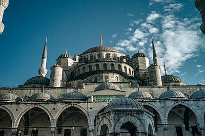 """Türkei, Istanbul, Sultan Ahmed Moschee """"Blaue Moschee"""" - p1085m2203560 von David Carreno Hansen"""