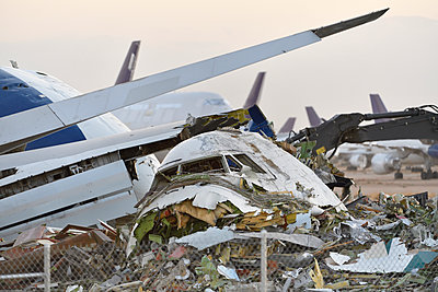 Scrapping Boeing 747 airliner - p1048m2202399 by Mark Wagner