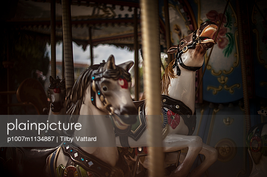 Horses on a carousel - p1007m1134887 by Tilby Vattard