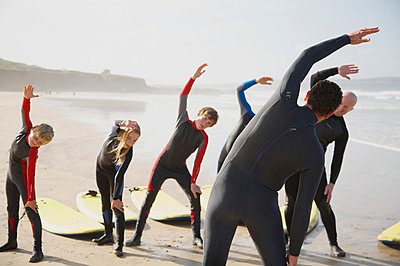 Surfing class - p6690178 by Jutta Klee photography