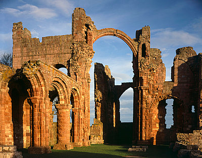 Lindisfarne Priory. View up nave arcade to crossing. - p8551769 by Paul Highnam