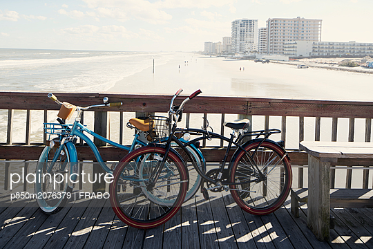 Two bicycles in Daytona Beach - p850m2076379 by FRABO