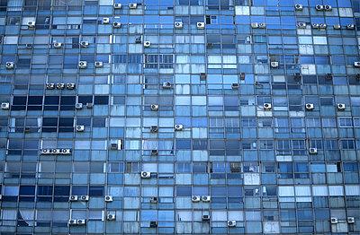 Blue Windows - p1072m829171 by Michael Steel