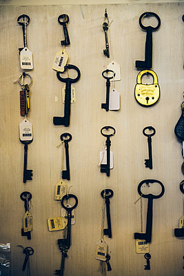 Antique Keys on a Wall - p988m1440917 by Rachel Rebibo