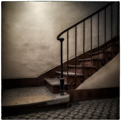 Old Staircase - p1154m1082772 by Tom Hogan
