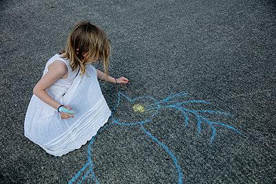 Sidewalk chalk - p1212m1145993 by harry + lidy