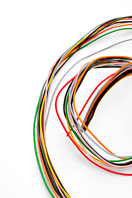 Coil of colourful wire - p1228m2204543 by Benjamin Harte