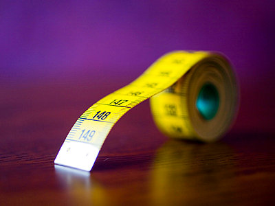 Yellow tape measure - p4262874f by Tuomas Marttila