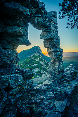 Ruin at Pic Saint-Loup - p829m972333 by Régis Domergue