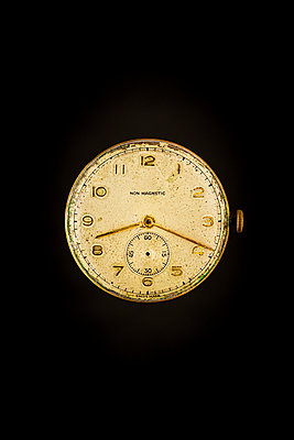old and worn mechanical watch face - p1302m2273393 by Richard Nixon