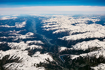 Aerial view, Alps - p913m2125522 by LPF