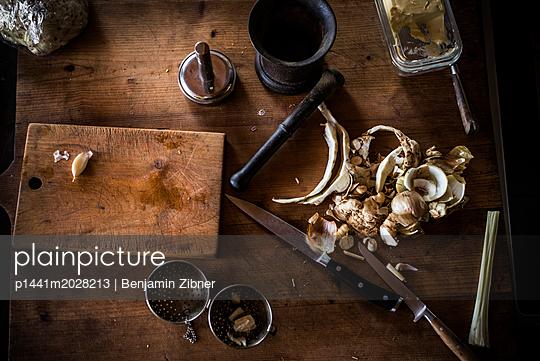 Sellerie und Knoblauch - p1441m2028213 von Benjamin Zibner