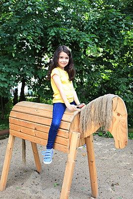 Wooden horse - p045m1044815 by Jasmin Sander