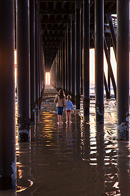 Under the pier - p756m2087310 by Bénédicte Lassalle