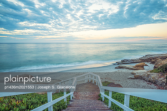 Stairs above Windansea Beach - p1436m2021553 by Joseph S. Giacalone