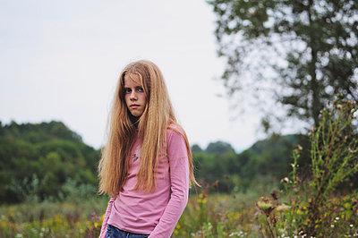 Blonde girl with long hair - p1412m1573703 by Svetlana Shemeleva