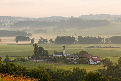 Germany, Bavaria, morning mood in Bad Endorf - p300m950114f by Martin Siepmann