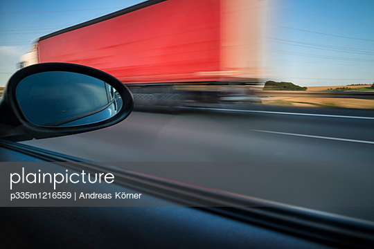Motorway driving - p335m1216559 by Andreas Körner