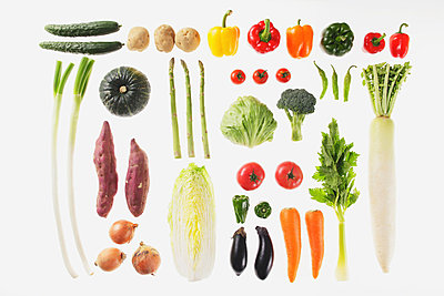 Collection Of Various Vegetables  - p307m711855f by AFLO