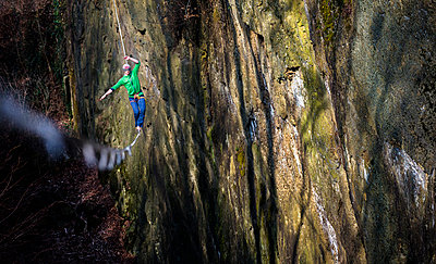Highlining in southern Bavaria - p343m1026701f by Nicolas Armer