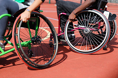 Wheelchair basketball - p445m881770 by Marie Docher