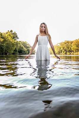 Girl in the River - p1019m1480942 by Stephen Carroll