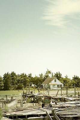 House on New Jersey Shore Wetlands  - p1248m1510430 by miguel sobreira
