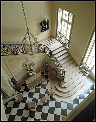 Staircase at Rodin Museum in Paris - p3720280 by James Godman