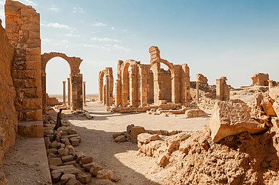 Burgruinen nahe As-Suchna, Syrien - p1493m2063544 von Alexander Mertsch